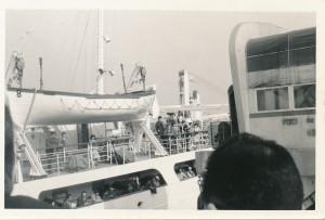 横浜港出港。 これからロシア(旧ソ連)経由でユーラシア大陸を横断です。