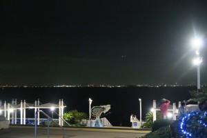 海ほたるから羽田方面の夜景。