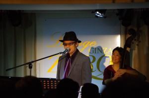 Sadahiko music concert at Launge Zero, Ginza, Tokyo.